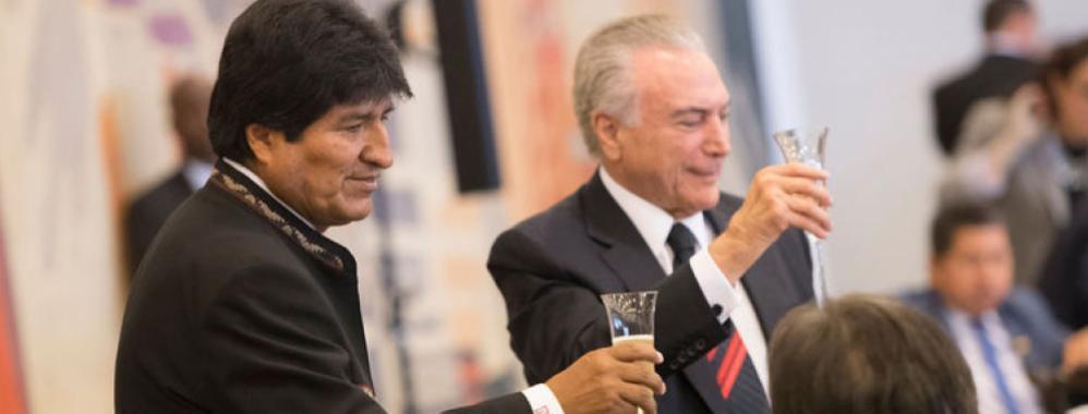 BOLIVIA Y BRASIL FIRMAN MEMORANDO DE ENTENDIMIENTO POR MEGAPROYECTO DE CORREDOR BIOCEÁNICO