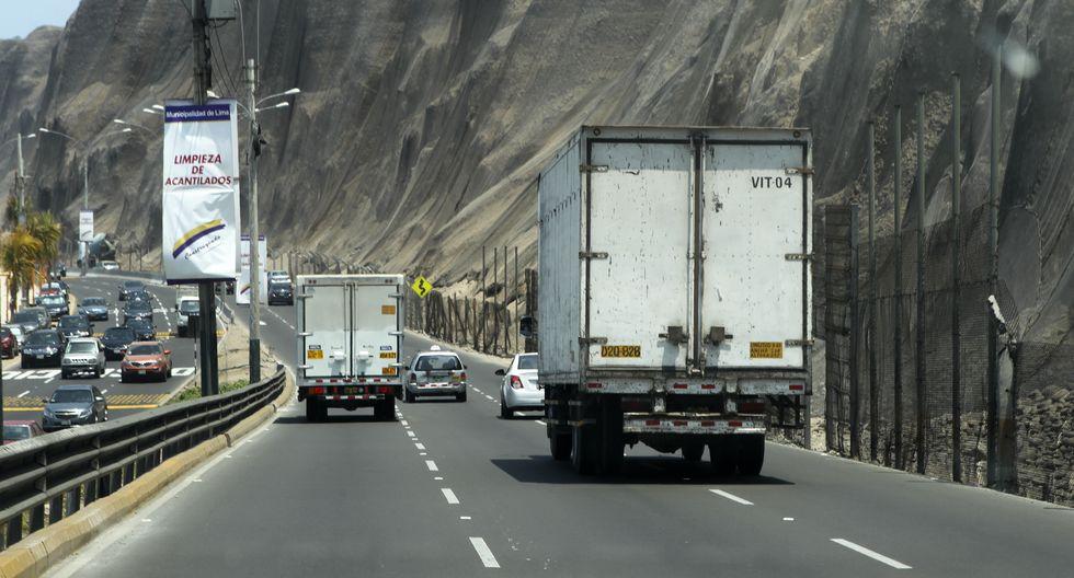 Desde hoy restringen tránsito de camiones en Costa Verde