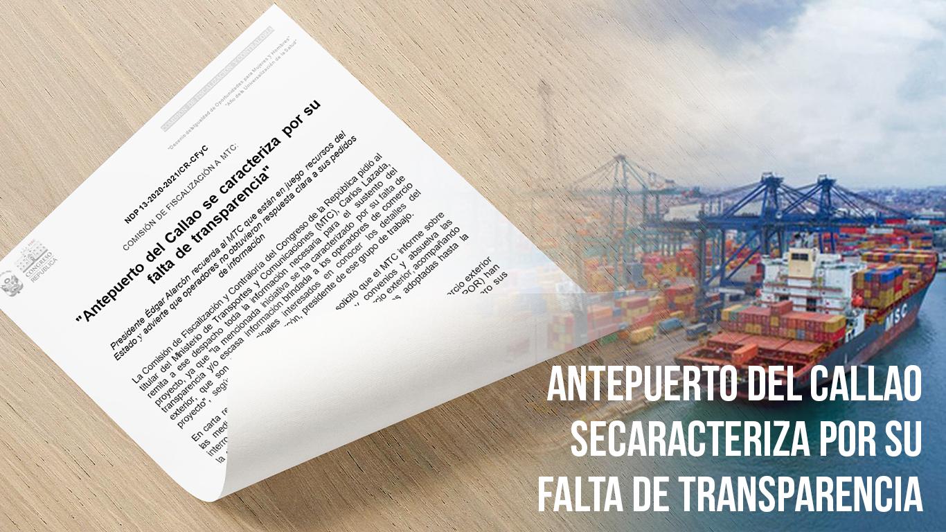 «Antepuerto del Callao se caracteriza por su falta de transparencia»