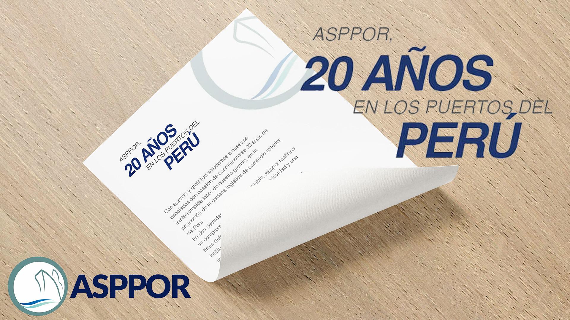 ASPPOR, 20 AÑOS EN LOS PUERTOS DEL PERÚ