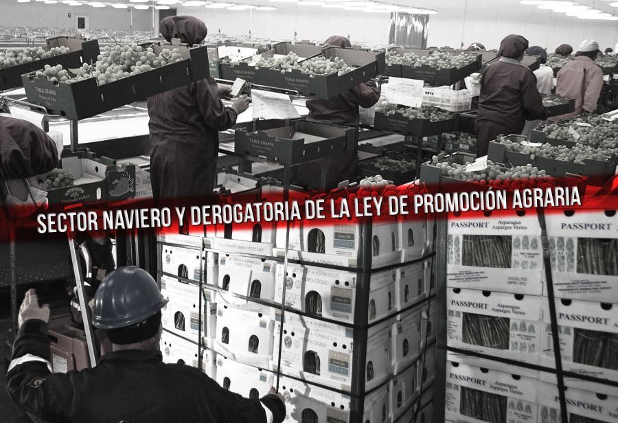 Sector naviero y derogatoria de la Ley de Promoción Agraria